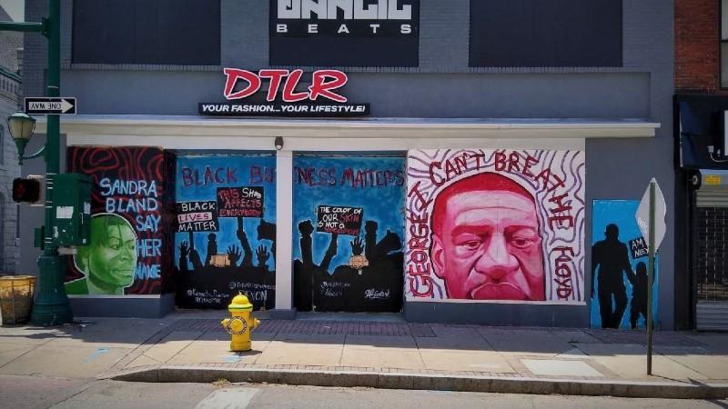 George Floyd Mural At DTLR