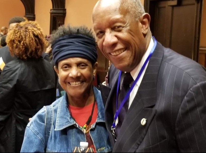 Twyla And Howard Dodson Jr. at a conference