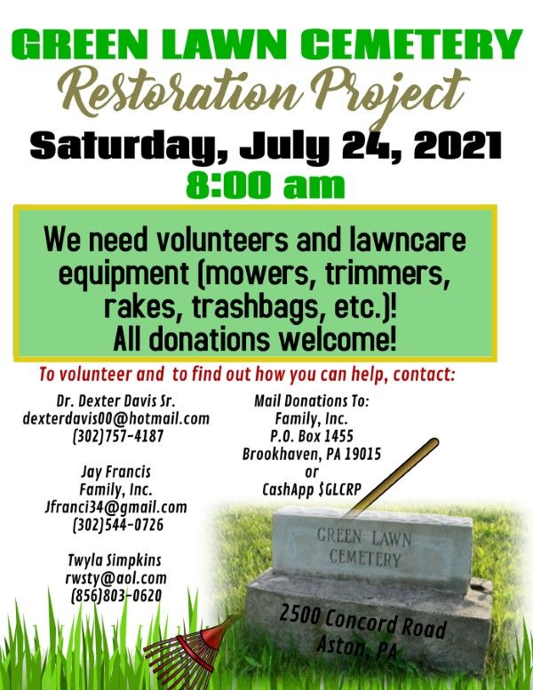 Green Lawn Cemetery Project July 2021